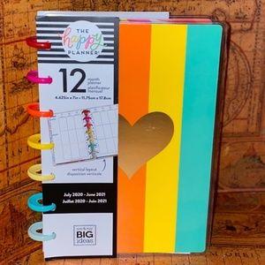 The Happy Planner Gold Stripe Heart 12-Month Plann